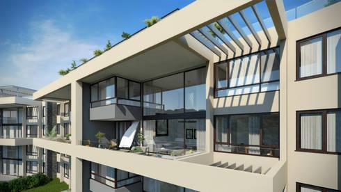 Depthouse Los Trapenses – Castro & Tagle Inmobiliaria: Casas de estilo moderno por Xline chile