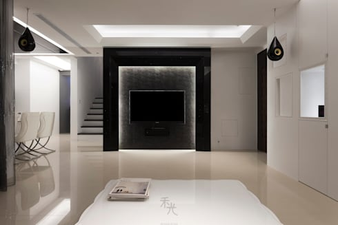 黑白精品‧極致混搭:  客廳 by 禾光室內裝修設計 ─ Her Guang Design