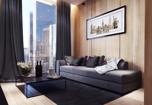 Gallery West Apartment:  Ruang Keluarga by Jati and Teak