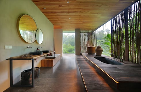 Chameleon Bali Bathroom : tropical Bathroom by Word of Mouth House