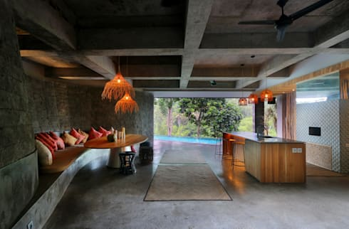 Chameleon Villa Bali Poolhouse : tropical Pool by Word of Mouth House