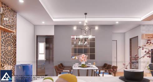 Thiết kế & Thi công Nội Thất Căn hộ – GoldView Quận 4:  Phòng ăn by Công ty ĐT-TV Thiết Kế & Xây Dựng ECO