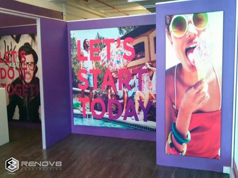 Virgin Active Shopfitting:  Offices & stores by Renov8 CONSTRUCTION