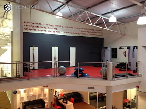 Training Area: modern Gym by Renov8 CONSTRUCTION
