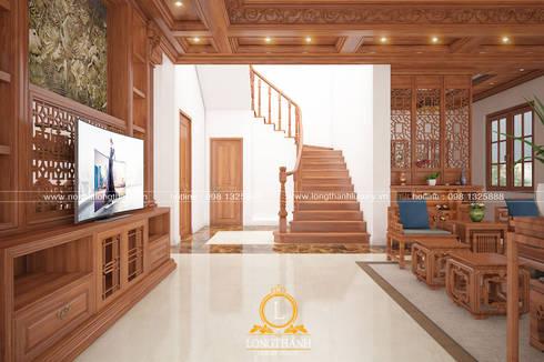 Kiến trúc sư:  Cầu thang by Nội thất Long Thành