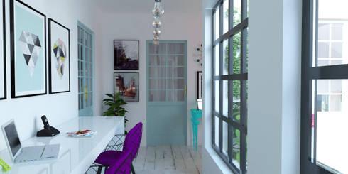 Galería : Pasillos y hall de entrada de estilo  por EnVoga