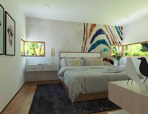 Dormitorio Principal: Dormitorios de estilo moderno por EnVoga