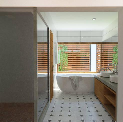 Baño Suite: Baños de estilo moderno por EnVoga