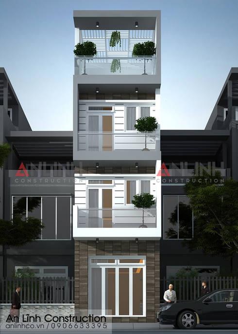 Mẫu nhà phố - TRẦN ÁNH TUYẾT:   by CÔNG TY THIẾT KẾ XÂY DỰNG AN LĨNH