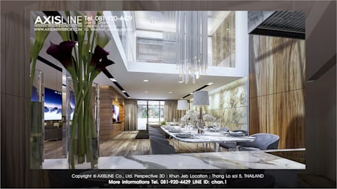 ออกแบบภายใน (PERSPECTIVE 3D) 1:  ตกแต่งภายใน by บริษัทแอคซิสลาย จำกัด