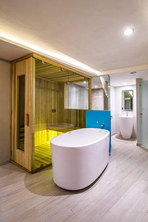 Hotel Bonn - DIN interiorismo : Recámaras de estilo moderno por DIN Interiorismo