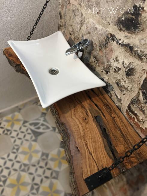 odywood – Kütük Mobilya ve Dekorasyon Modelleri:  tarz Banyo