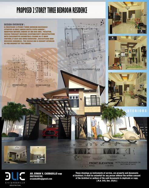 Townhouse by E.V.Casbadillo Arquitectura