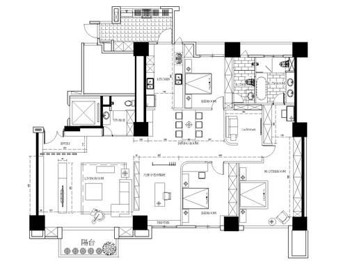 平面圖分享:   by 築采設計 - Leve Interior Architects