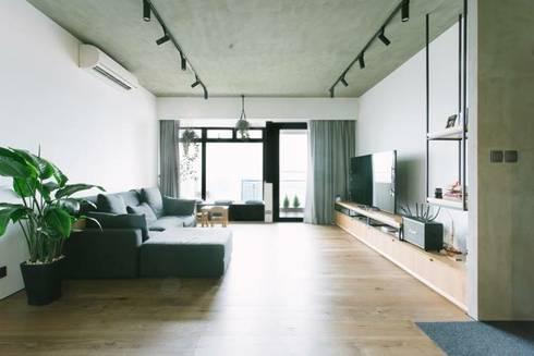 kingsford gardens: minimalistic Living room by Ash studio