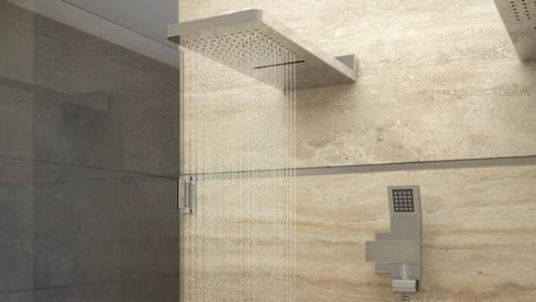 Version 1 de Ducha: Baños de estilo moderno por Gabriela Afonso