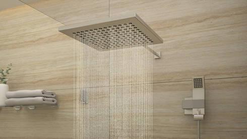 Version 2 de Ducha: Baños de estilo moderno por Gabriela Afonso