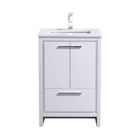 DOLCE - 24″ - HIGH GLOSS WHITE - SKU: AD624GW: modern Bathroom by KubeBath