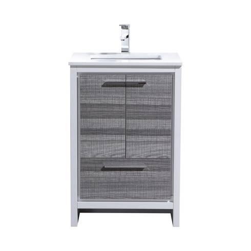 DOLCE - 24″ - ASH GRAY - SKU: AD624HG: modern Bathroom by KubeBath