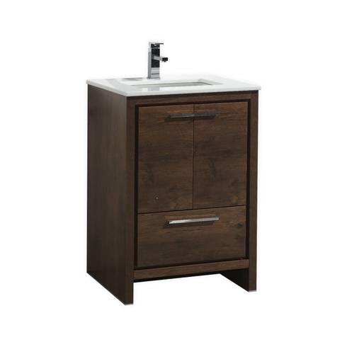 DOLCE - 24″ - ROSE WOOD - SKU: AD624RW: modern Bathroom by KubeBath