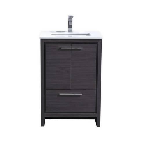 DOLCE - 24″ - GRAY OAK - SKU: AD624WB: modern Bathroom by KubeBath