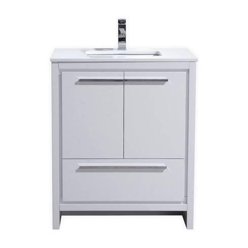 DOLCE - 30″ - HIGH GLOSS WHITE - SKU: AD630GW: modern Bathroom by KubeBath