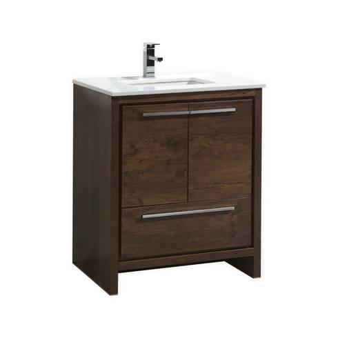 DOLCE - 30″ - ROSE WOOD  - SKU: AD630RW: modern Bathroom by KubeBath