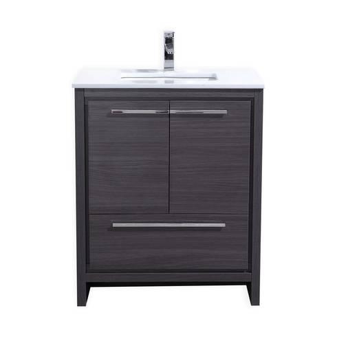 DOLCE - 30″ - GRAY OAK  - SKU: AD630WB: modern Bathroom by KubeBath