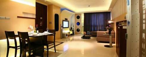 惠宇敦品-郭先生:  客廳 by 築采設計 - Leve Interior Architects