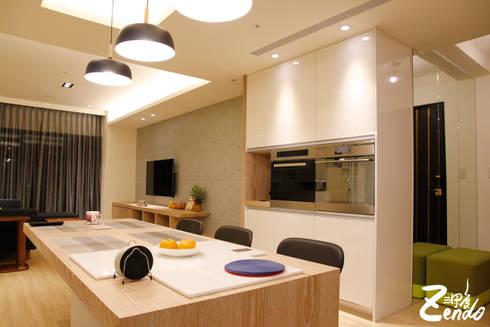 北歐‧小清新:  客廳 by Zendo 深度空間設計