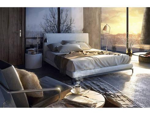 Phòng ngủ đẹp với đồ nội thất hiện đại:   by Thương hiệu Nội Thất Hoàn Mỹ