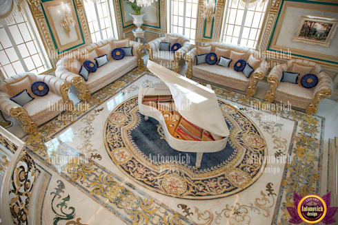 Interiors of absolute happiness from Katrina Antonovich: classic Living room by Luxury Antonovich Design
