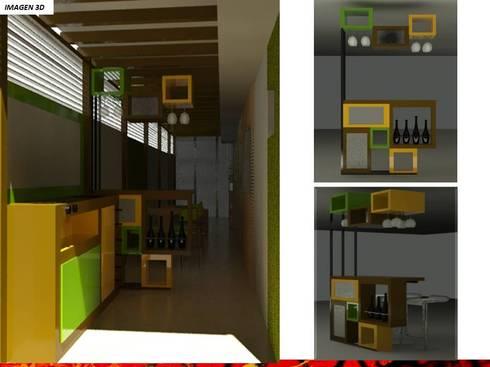 DISEÑO INTERIOR: Salas de estilo  por H3A ARQUITECTOS