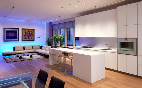 Soho Loft: modern Kitchen by KUBE Architecture