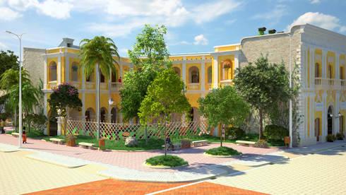 diseño paisajista y urbano del Edificio Ferrans:  de estilo  por A.BORNACELLI