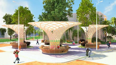 Mobiliarios Urbano Edificio Ferrans:  de estilo  por A.BORNACELLI