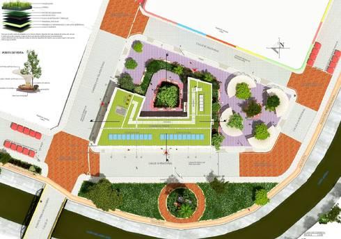 Planta de Cubierta Edificio Ferrans:  de estilo  por A.BORNACELLI