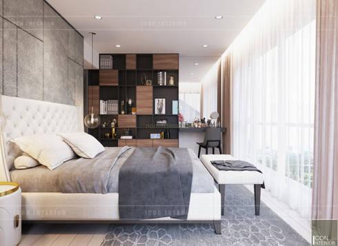 Thiết căn hộ Gateway Thảo Điền: Đẳng cấp của một căn hộ phong cách hiện đại :  Phòng ngủ by ICON INTERIOR