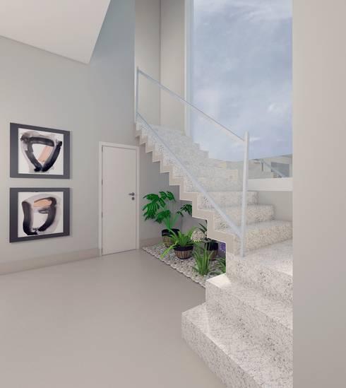 Hall de entrada:   por Aline Mozzer Arquitetura