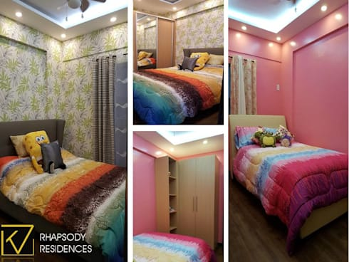 Quirky and Upbeat Interior Design: modern Bedroom by Kat Interior and Design