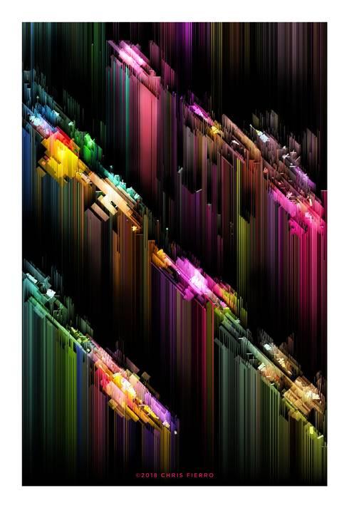 """""""Ciudad (axonometría o algo parecido)"""": Arte de estilo  por Chris Fierro Arte Visual"""