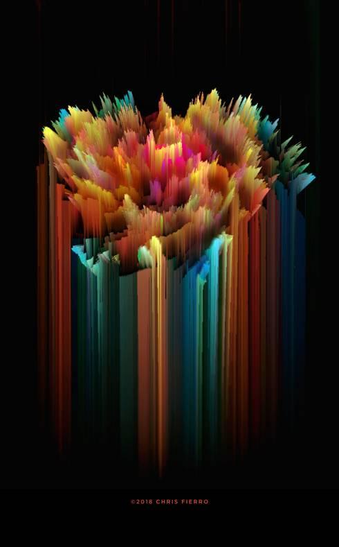 """""""Florecer abruptamente"""": Arte de estilo  por Chris Fierro Arte Visual"""
