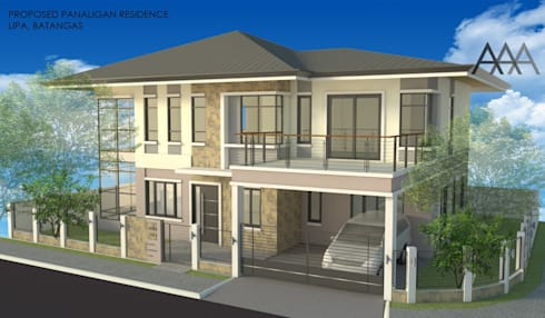 2 - Storey Private Residence in Lipa, Batangas:   by AAA Architects and Interiors