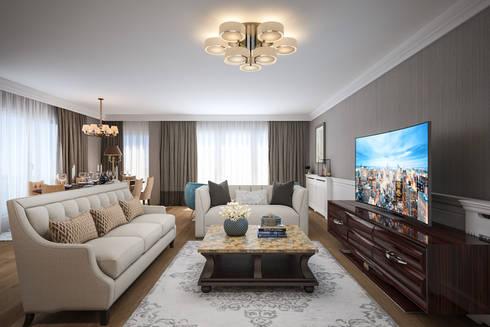 yücel partners – S&E Esnafoglu Evi: modern tarz Oturma Odası