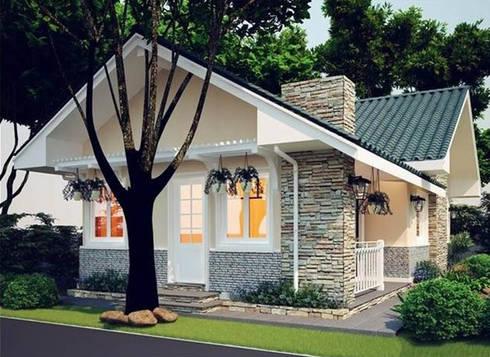 Nhà cấp 4 đẹp 100 m2 ở Hải Dương:   by Việt Architect Group