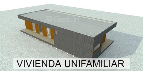Ante Proyecto casa Mediterranea 80 M2:  de estilo  por AG Gestión