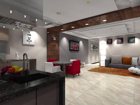 open plan living:   by lady la interiors