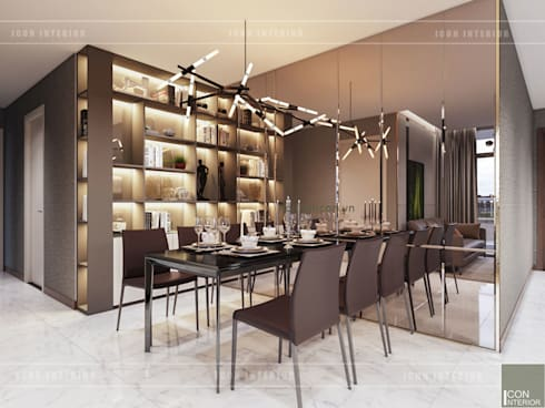 Thiết kế phong cách hiện đại tiện nghi cho căn hộ Park 7 Vinhomes Central Park:  Phòng ăn by ICON INTERIOR