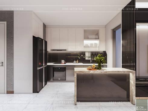 Thiết kế phong cách hiện đại tiện nghi cho căn hộ Park 7 Vinhomes Central Park:  Nhà bếp by ICON INTERIOR