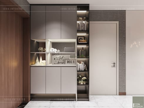 Thiết kế phong cách hiện đại tiện nghi cho căn hộ Park 7 Vinhomes Central Park:  Cửa ra vào by ICON INTERIOR